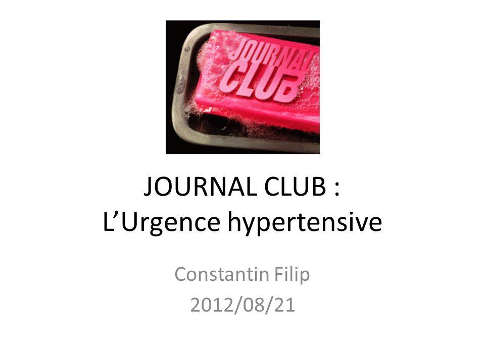 Urgences Hypertensives Cérébrovasculaire – Hypertension maligne (fonds dœil) – Encéphalopathie hypertensive – Hémorrhagie intra-cérébrale ou sous-arachnoidienne Cardiaque – Dissection – Insuffisance aigue – Infarctus – Post-PAG
