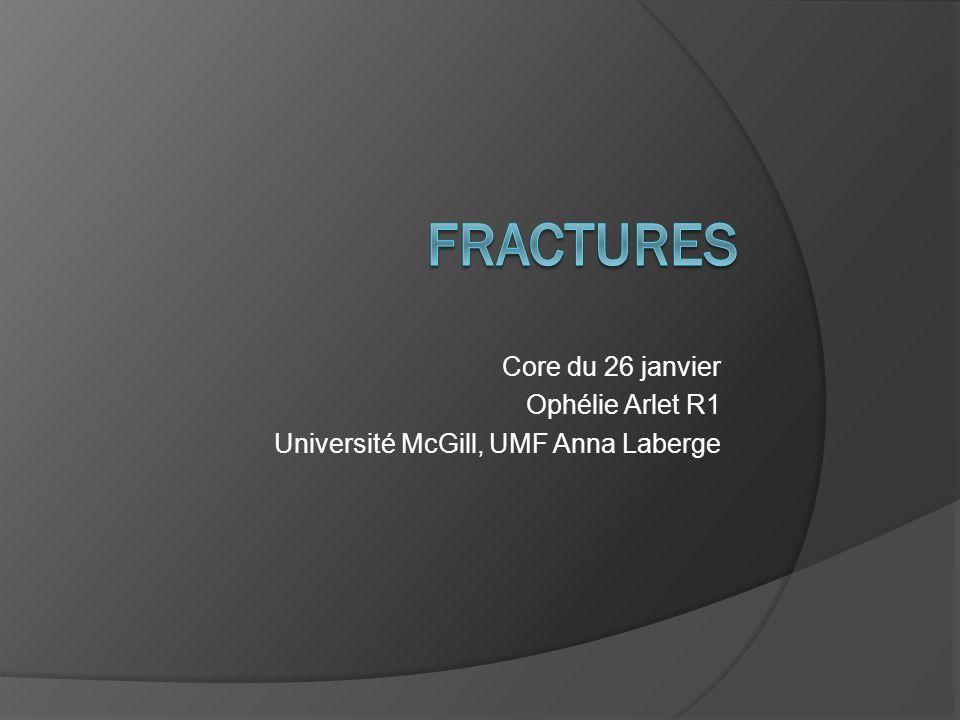 Core du 26 janvier Ophélie Arlet R1 Université McGill, UMF Anna Laberge