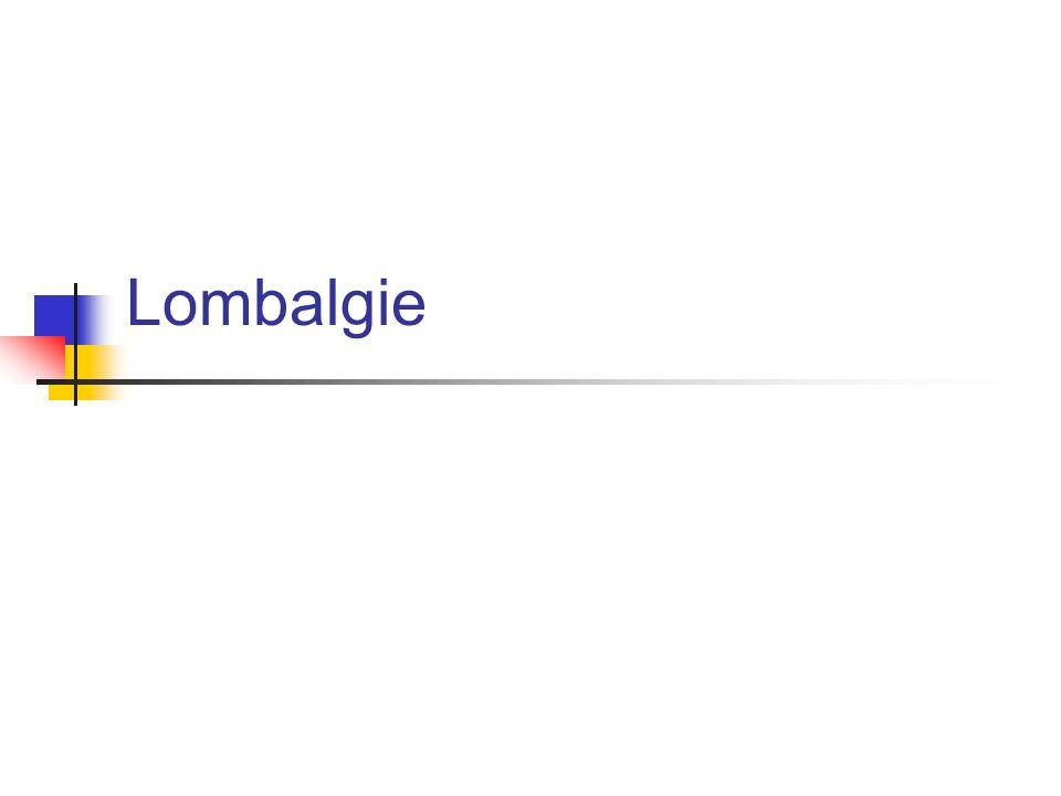 Tripode (Straight leg raising en position assise) Lasègue (Straight leg raising en position couché) Distingué entre la raideur des ishiojambiers et lirradiation radiculaire Lasègue croisé (crossed straight leg raising) : more specific for herniated disc (90%) Pouls périphérique Examen abdominal