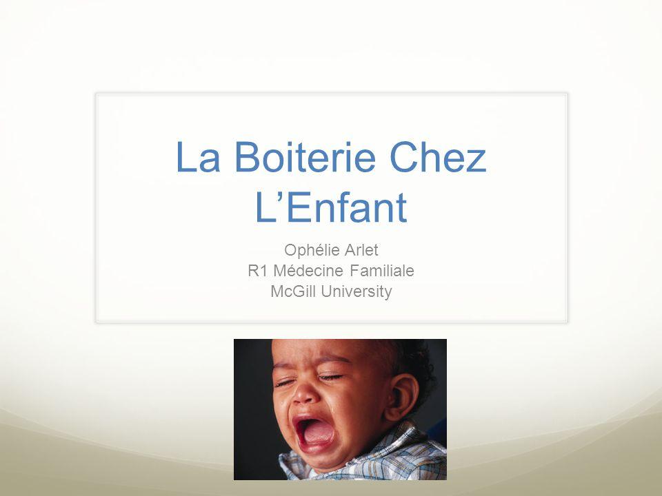 La Boiterie Chez LEnfant Ophélie Arlet R1 Médecine Familiale McGill University