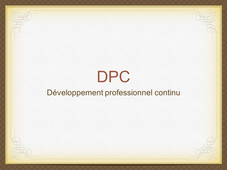 DPC Développement professionnel continu