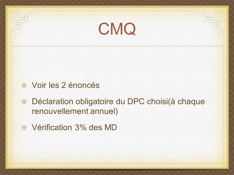 Programmes de DPC Généralités pour les différents programmes DPC 3 choix de programmes pour le médecin de famille On choisi un programme.
