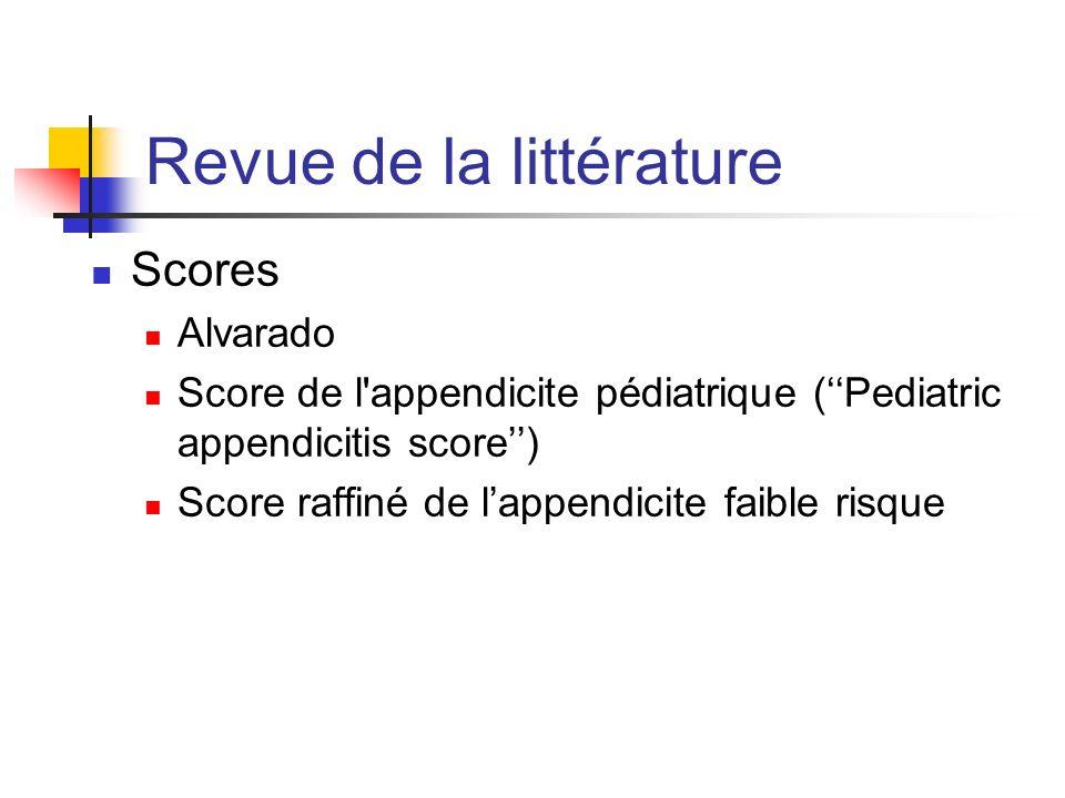 Mon étude 34 enfants âgé de 6 à 18 diagnostic dappendicite inscrit sur la feuille sommaire 1 avril 2011 au 31 mars 2012