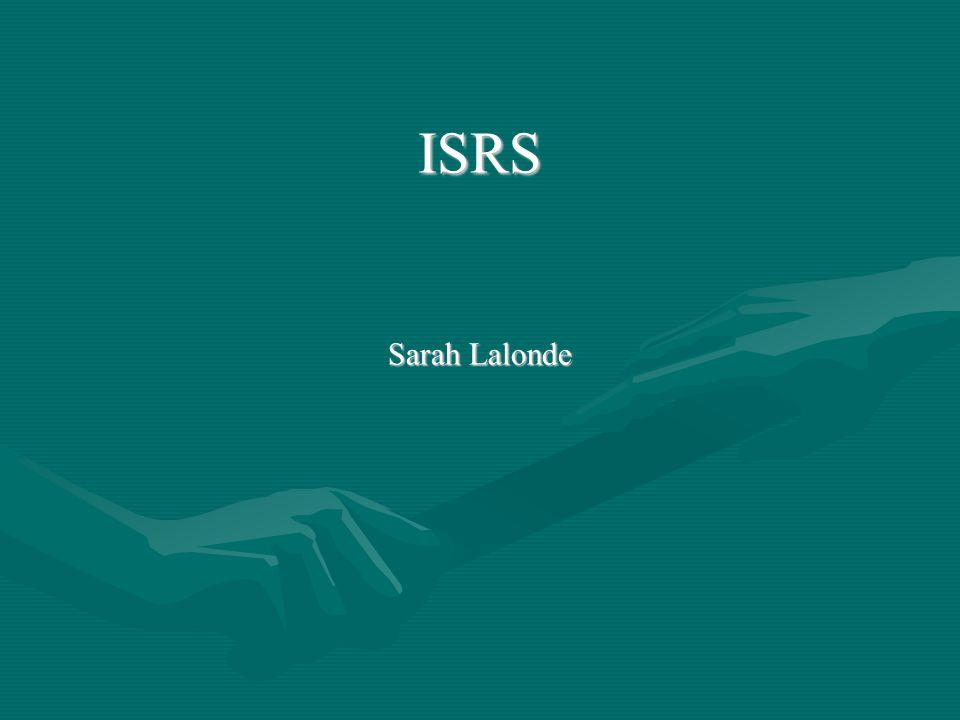 ISRS Sarah Lalonde