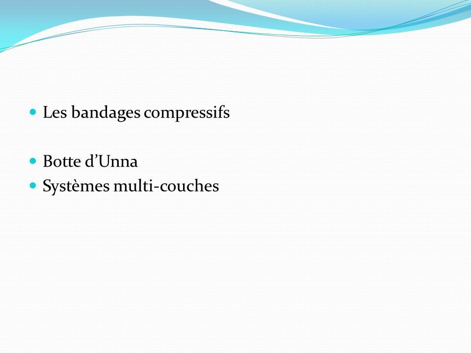 Les bandages compressifs Botte dUnna Systèmes multi-couches