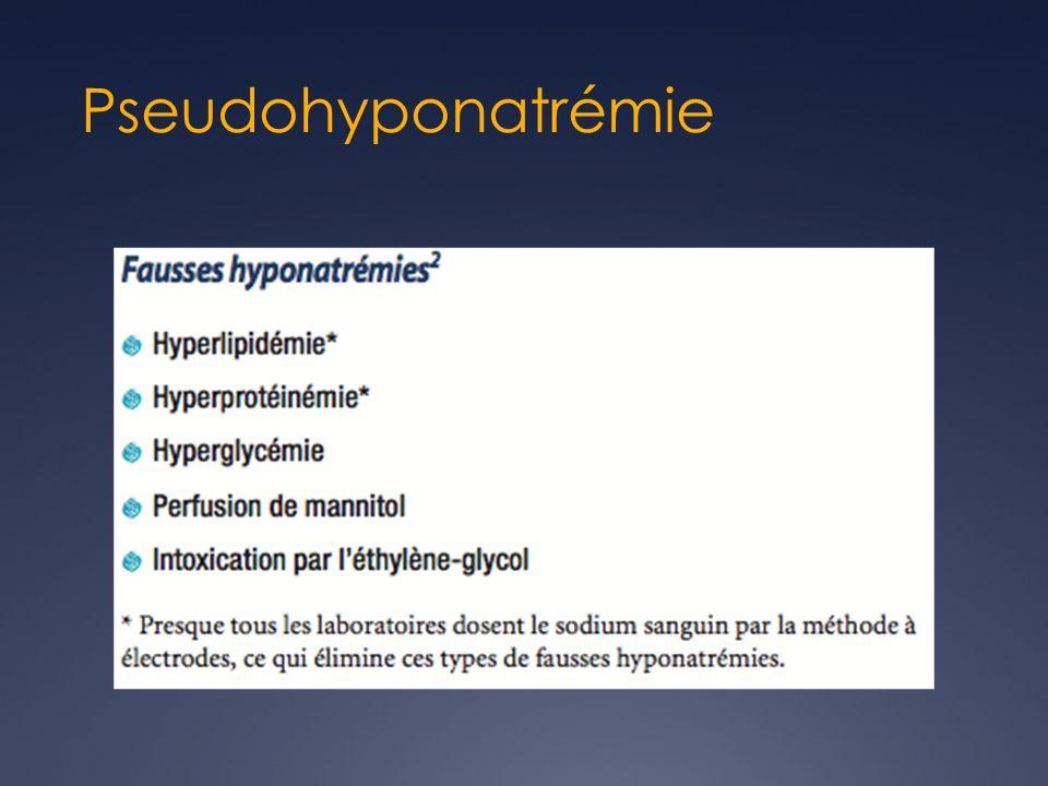 Pseudohyponatrémie