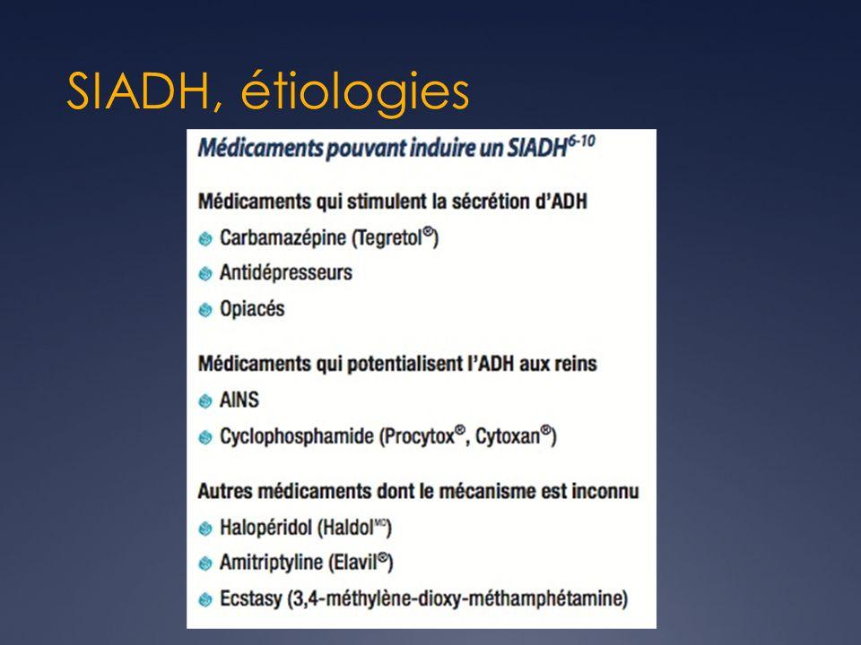 SIADH, étiologies
