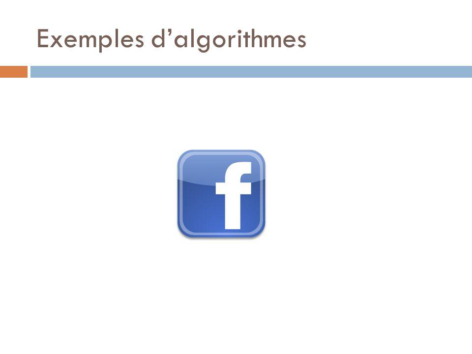 Exemples dalgorithmes