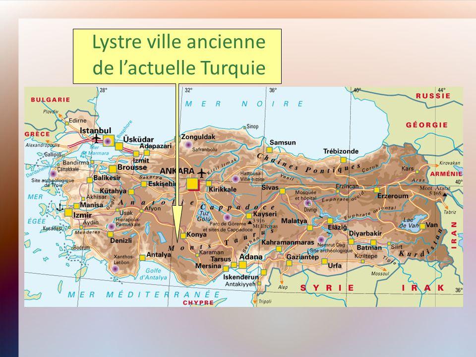Lystre ville ancienne de lactuelle Turquie