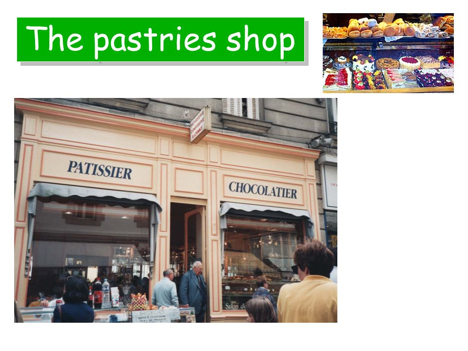 The pastries shop
