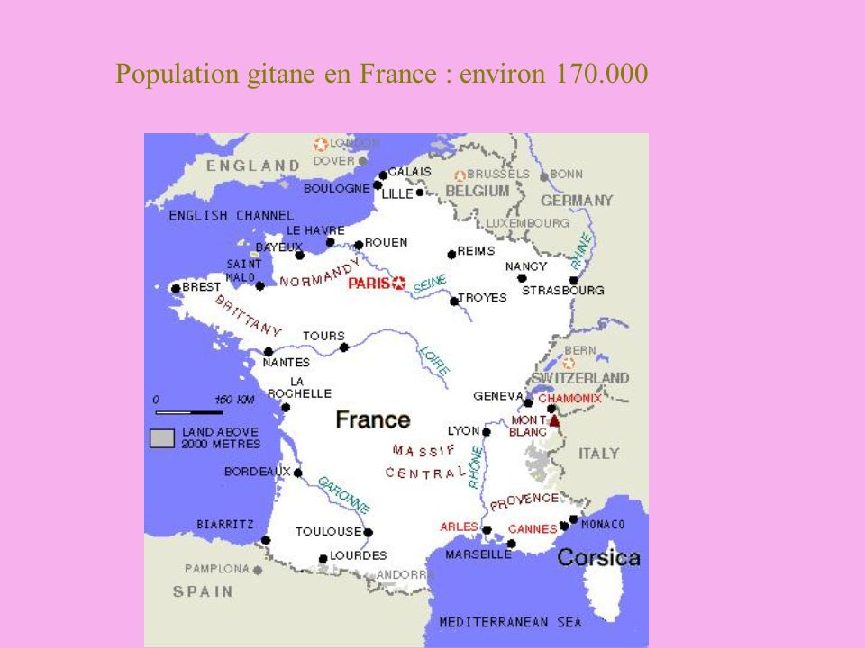 Population gitane en France : environ 170.000