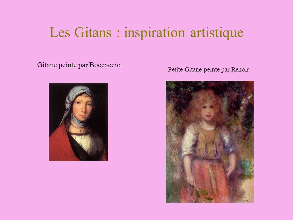 Les Gitans : inspiration artistique Petite Gitane peinte par Renoir Gitane peinte par Boccaccio