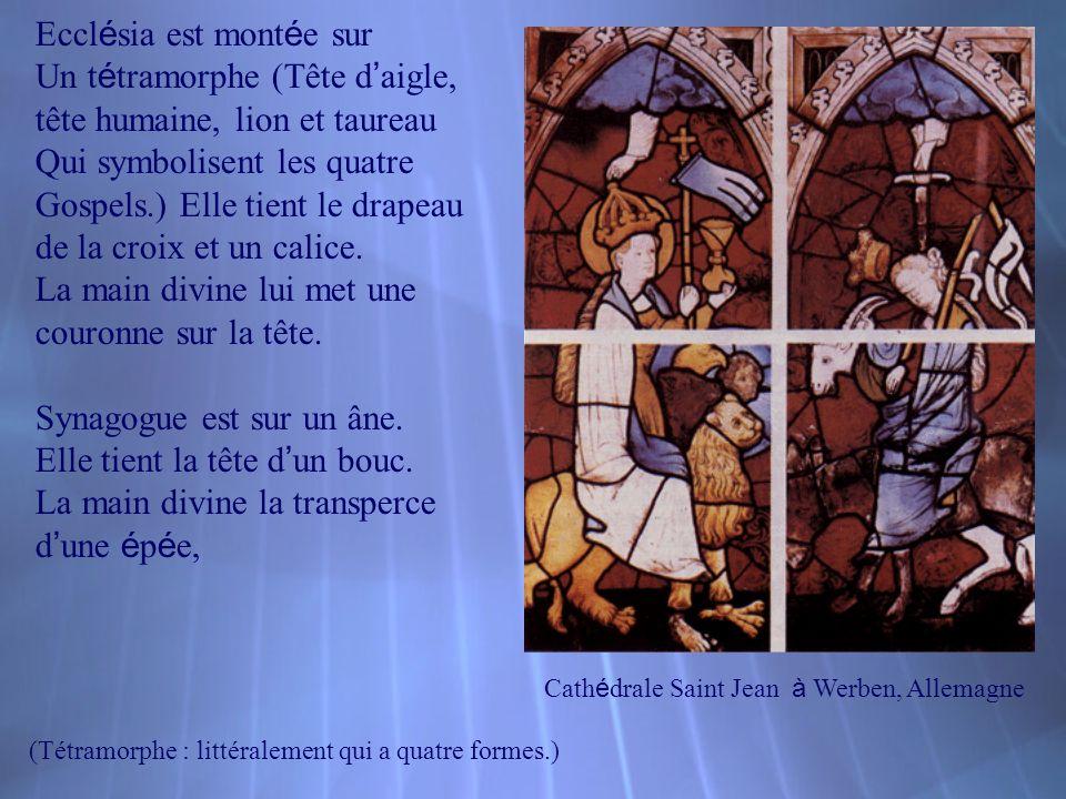 Cath é drale Saint Jean à Werben, Allemagne Eccl é sia est mont é e sur Un t é tramorphe (Tête d aigle, tête humaine, lion et taureau Qui symbolisent
