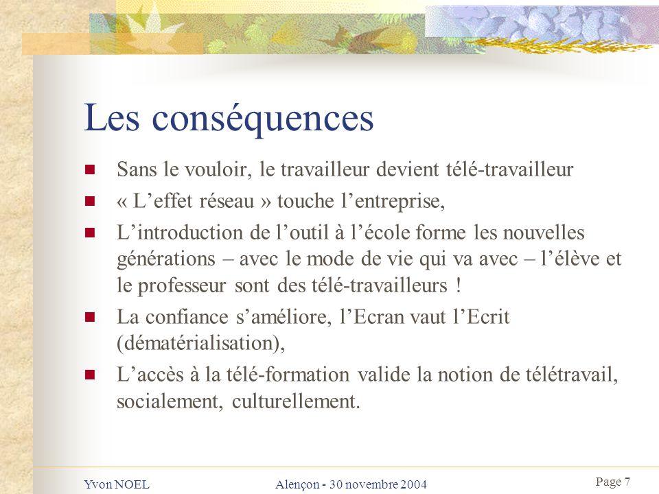 Page 8 Yvon NOELAlençon - 30 novembre 2004 Mais… que font les collectivités .