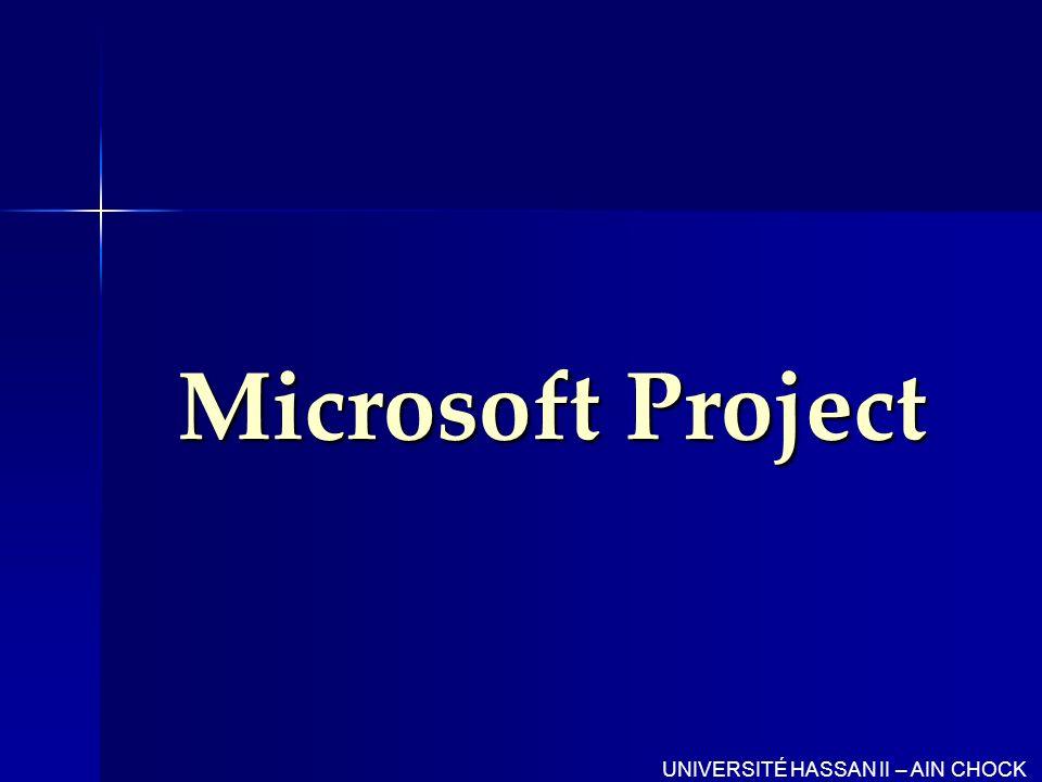 Gestion de projets La gestion de projets est le processus qui consiste à planifier, organiser et gérer les tâches et les ressources dun projet afin d atteindre un objectif défini UNIVERSITÉ HASSAN II – AIN CHOCK