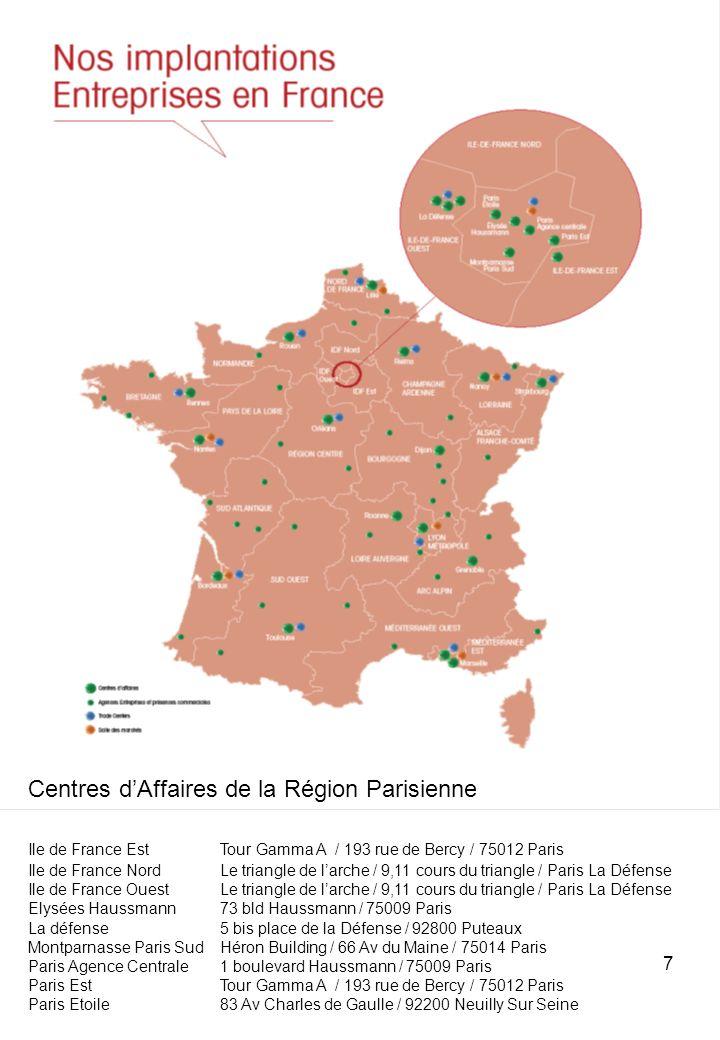 7 Centres dAffaires de la Région Parisienne Ile de France Est Tour Gamma A / 193 rue de Bercy / 75012 Paris Ile de France NordLe triangle de larche /