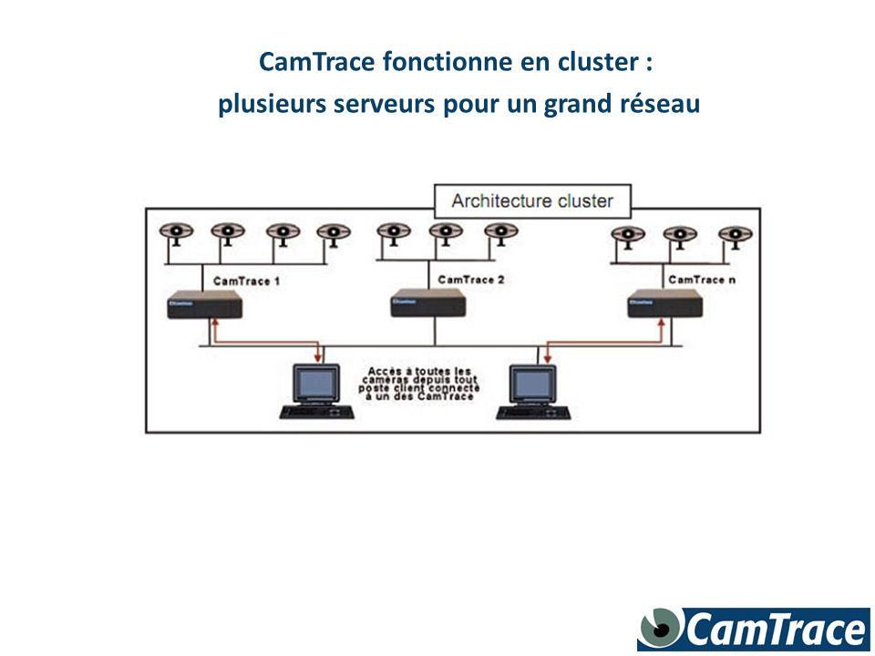 CamTrace fonctionne en cluster : plusieurs serveurs pour un grand réseau