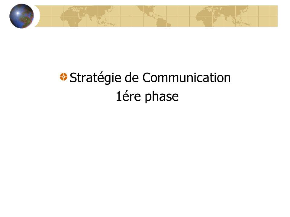 Stratégie de Communication 1ére phase
