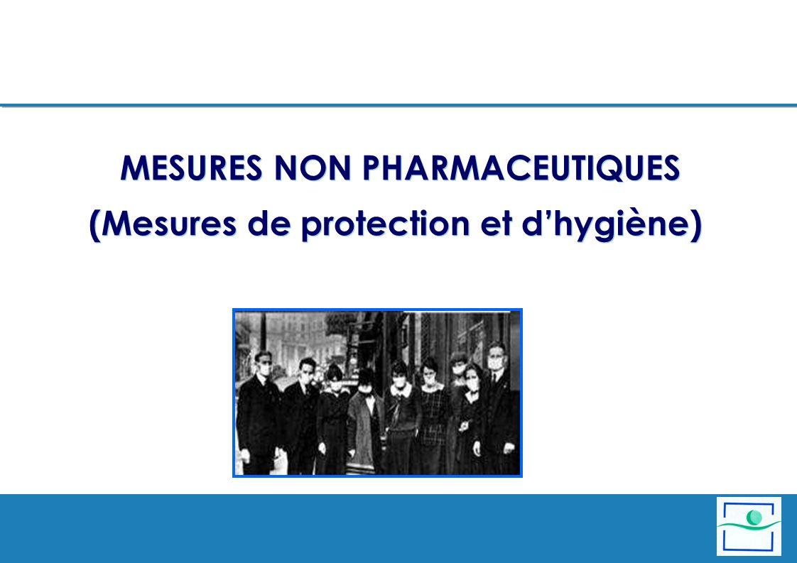 MESURES NON PHARMACEUTIQUES (Mesures de protection et dhygiène)
