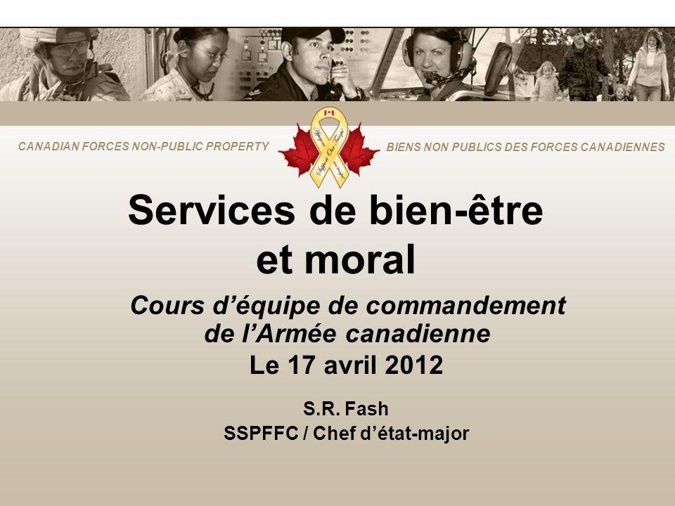 CANADIAN FORCES NON-PUBLIC PROPERTY BIENS NON PUBLICS DES FORCES CANADIENNES Services de bien-être et moral Cours déquipe de commandement de lArmée ca