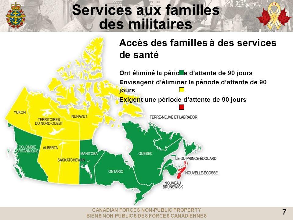 CANADIAN FORCES NON-PUBLIC PROPERTY BIENS NON PUBLICS DES FORCES CANADIENNES 7 Services aux familles des militaires Accès des familles à des services
