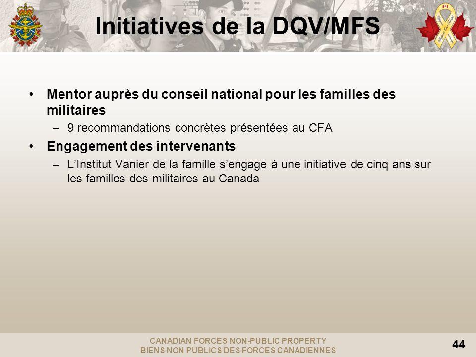 CANADIAN FORCES NON-PUBLIC PROPERTY BIENS NON PUBLICS DES FORCES CANADIENNES 44 Mentor auprès du conseil national pour les familles des militaires –9