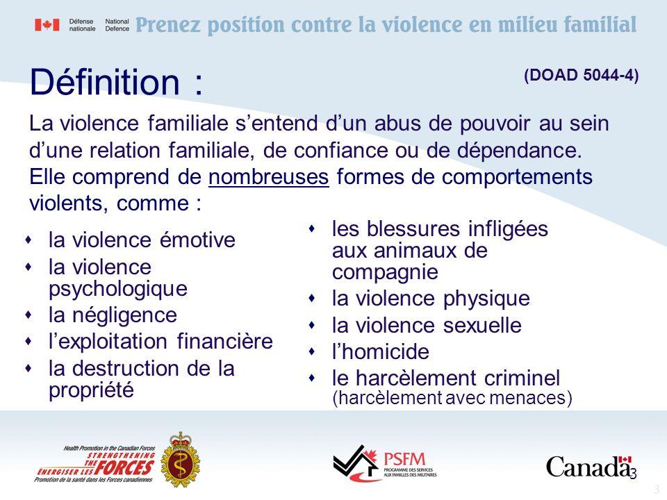 3 la violence émotive la violence psychologique la négligence lexploitation financière la destruction de la propriété les blessures infligées aux anim