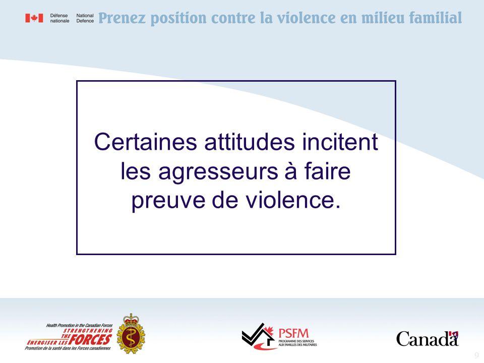 30 Impact sur lagresseur 30 Dépression Perte destime de soi Problèmes juridiques Problèmes au travail Possibilité de riposte par le survivant de la violence Continuité de la violence
