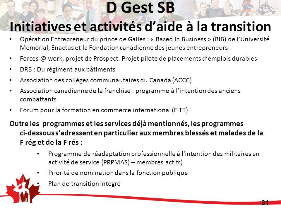 Opération Entrepreneur du prince de Galles : « Based In Business » (BIB) de lUniversité Memorial, Enactus et la Fondation canadienne des jeunes entrep