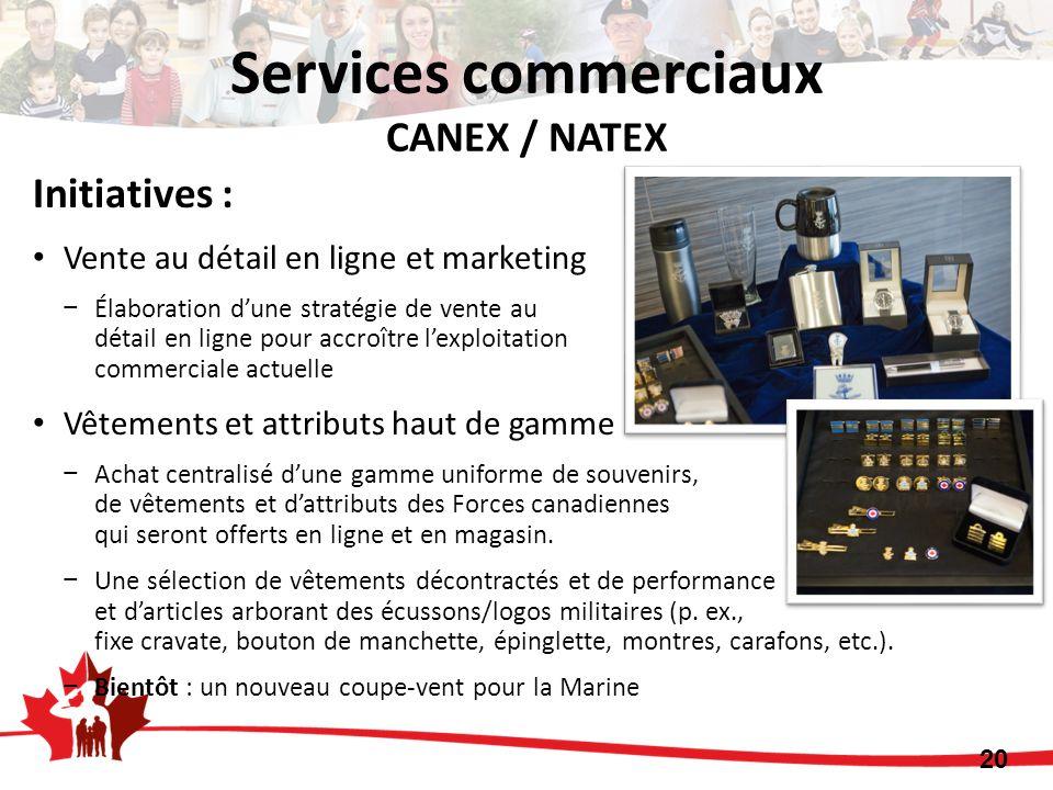 Initiatives : Vente au détail en ligne et marketing Élaboration dune stratégie de vente au détail en ligne pour accroître lexploitation commerciale ac