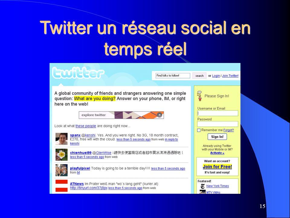 Twitter un réseau social en temps réel 15