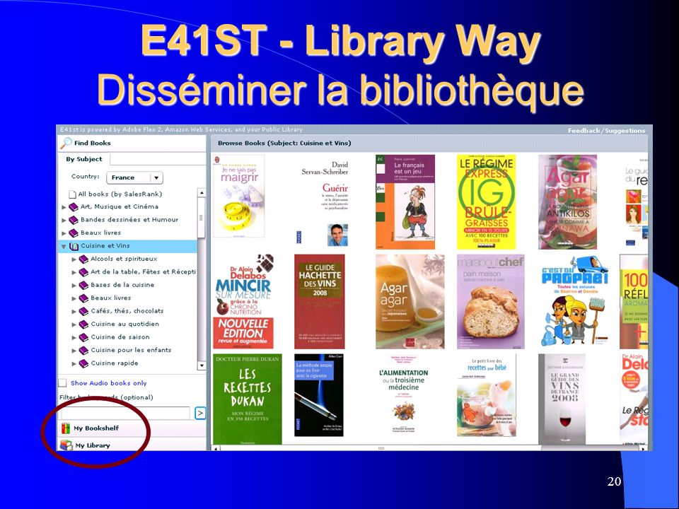 E41ST - Library Way Disséminer la bibliothèque 20