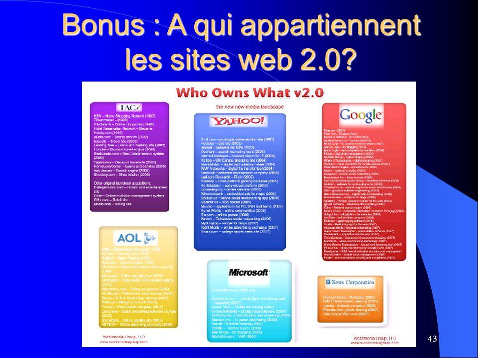 Bonus : A qui appartiennent les sites web 2.0 43