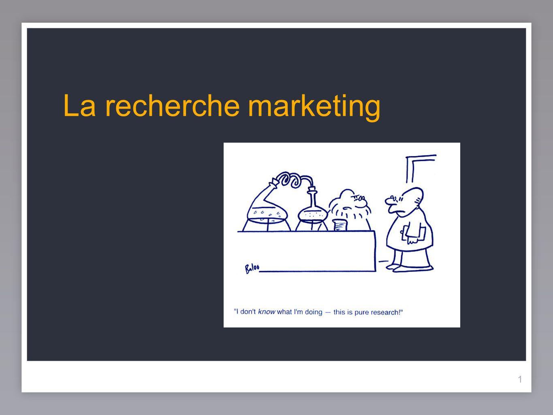 22 Le processus de recherche marketing 22