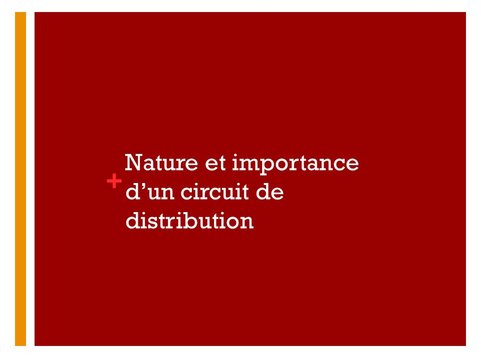 + Une influence sur toutes les autres variables du marketing Le choix dun canal de distribution implique en général un engagement à long terme de la part de lentreprise De nombreux termes pour les différents intermédiaires du réseau