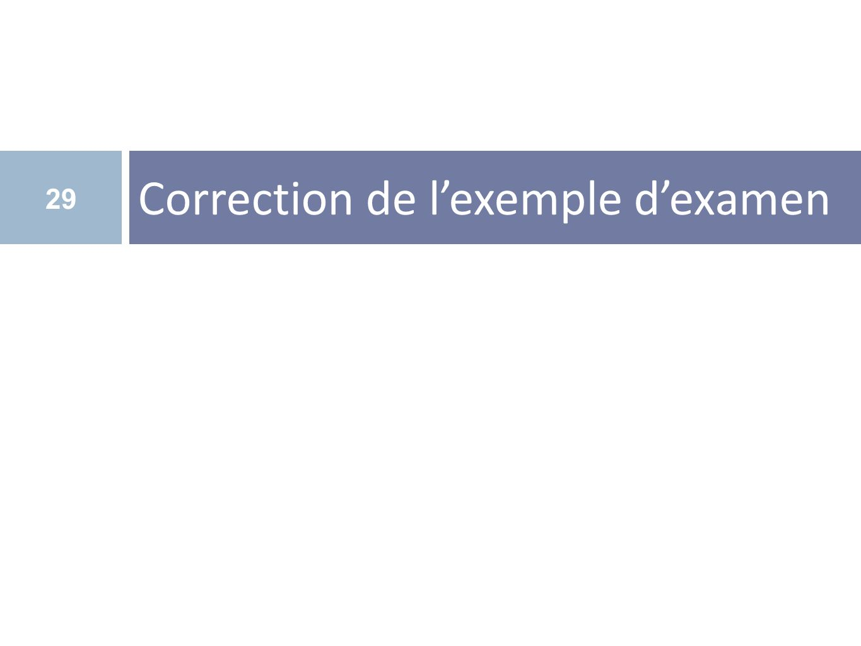 Correction de lexemple dexamen 29