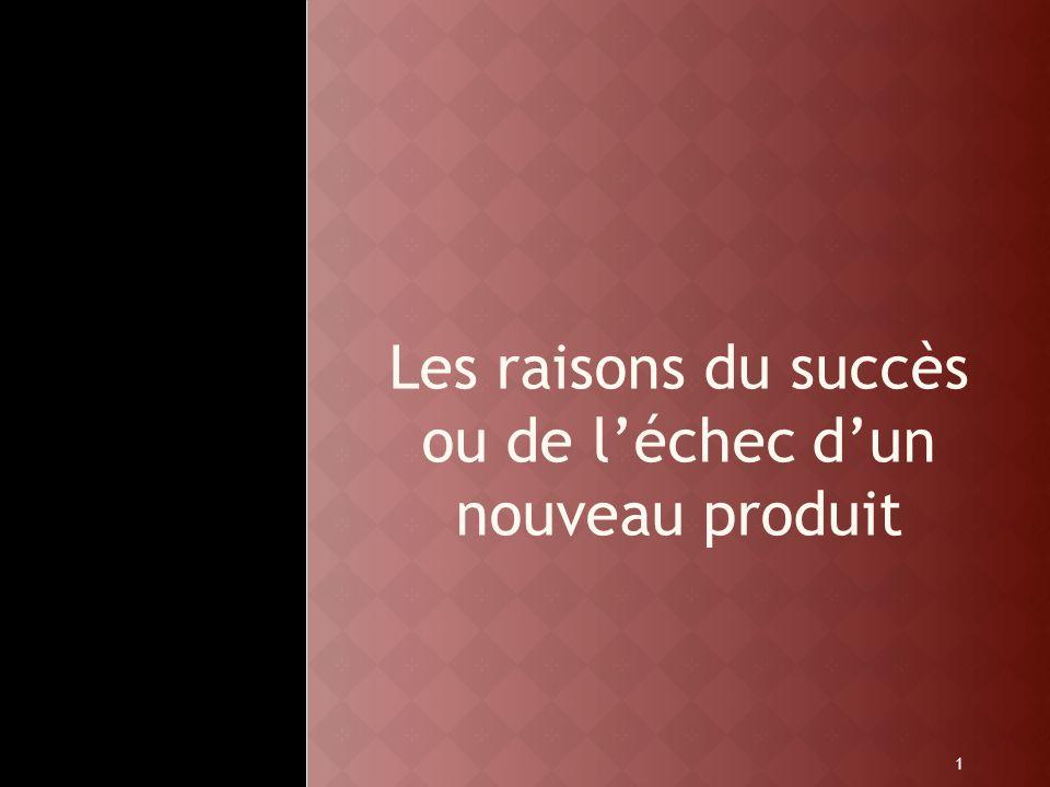 1 Les raisons du succès ou de léchec dun nouveau produit