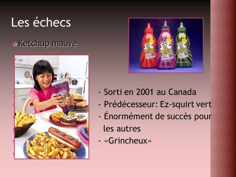 Ketchup mauve Ketchup mauve - Sorti en 2001 au Canada - Prédécesseur: Ez-squirt vert - Énormément de succès pour les autres - «Grincheux» r