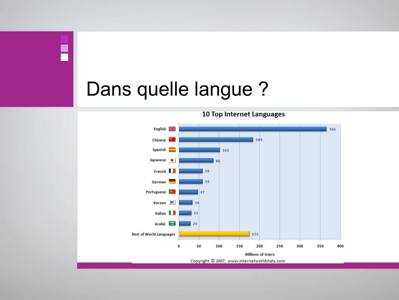 Dans quelle langue ?