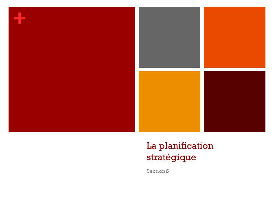 + La planification stratégique Section S