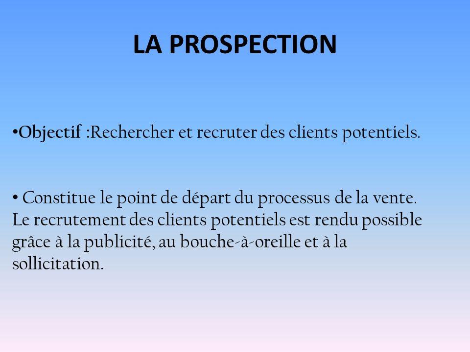 LAPPROCHE PRÉLIMINAIRE Objectif : Recueillir des renseignements et déterminer la manière daborder le client potentiel.