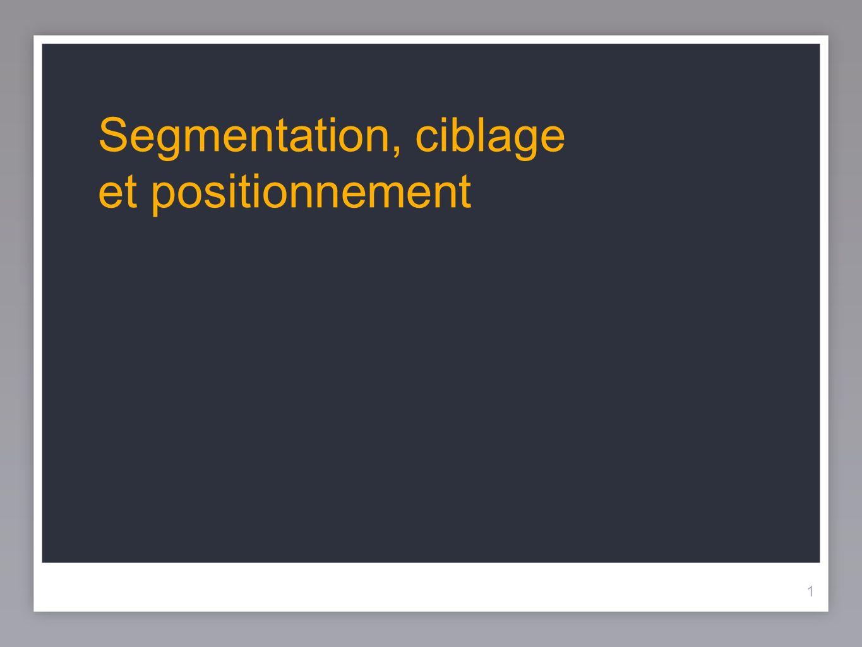 1 Segmentation, ciblage et positionnement 1