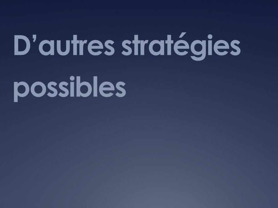 Dautres stratégies possibles