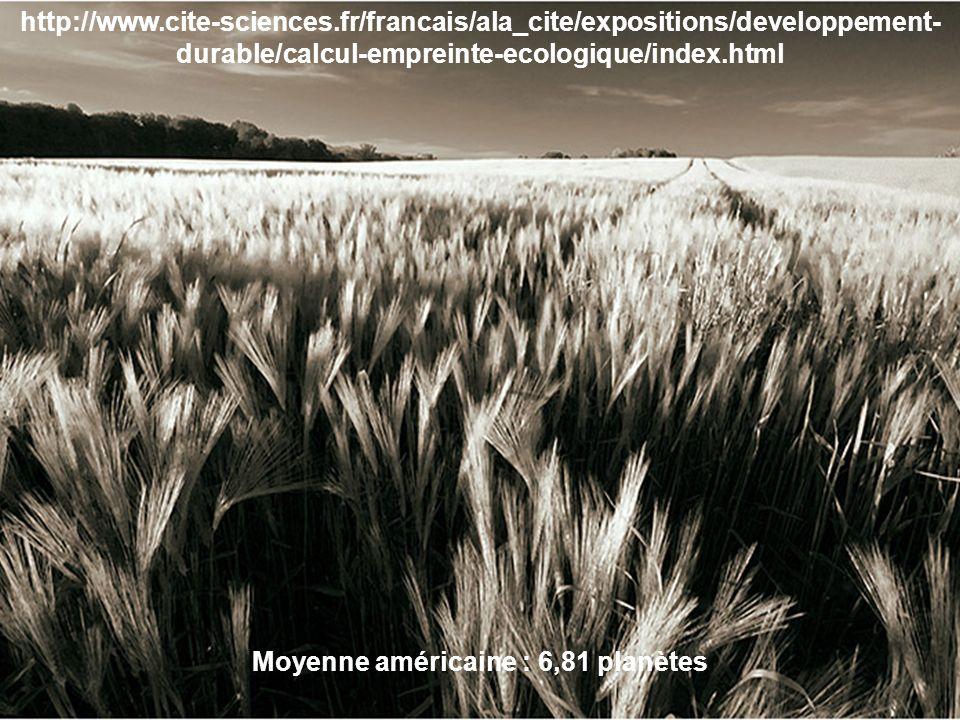 http://www.cite-sciences.fr/francais/ala_cite/expositions/developpement- durable/calcul-empreinte-ecologique/index.html Moyenne américaine : 6,81 plan