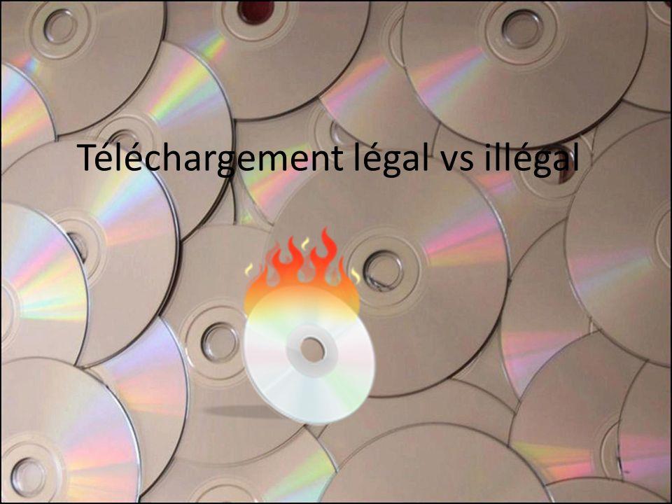 Téléchargement légal vs illégal