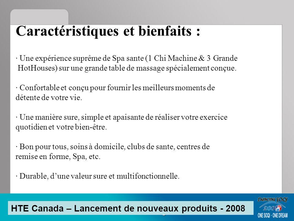 Plus convenable pour les personnes de grande taille HTE Canada – Lancement de nouveaux produits - 2008 38.5 29 23.5 38 86 - 0.5 ou 3 plus grand (avec la grande HH au dessus ) - 6 / 4.5 plus large (avec la grande HH au dessus) - 1 plus longue