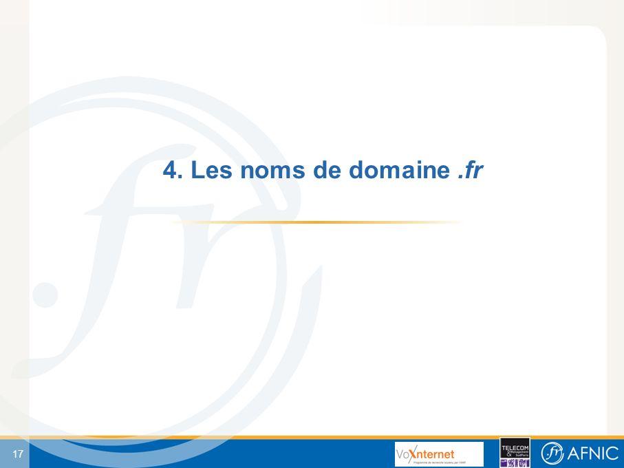 17 4. Les noms de domaine.fr