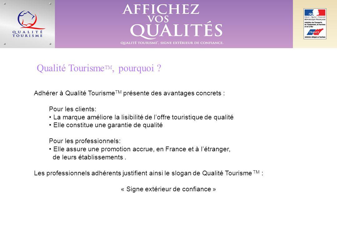 Qualité Tourisme TM, pourquoi .