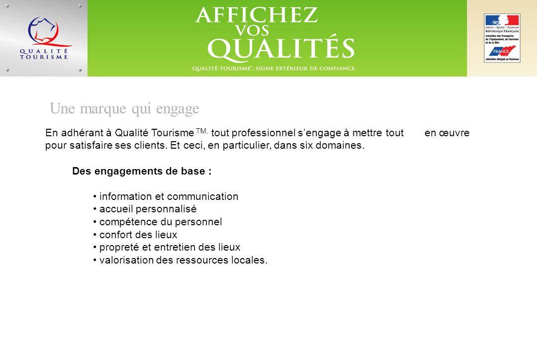 La rigueur, gage du succès Adhérer à la marque Qualité Tourisme TM, cest donc prendre des engagements précis sur la durée.