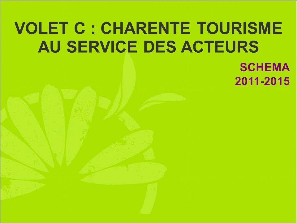 VOLET C : CHARENTE TOURISME AU SERVICE DES ACTEURS SCHEMA 2011-2015